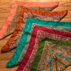 Beautiful Sheer Silk Scarfs
